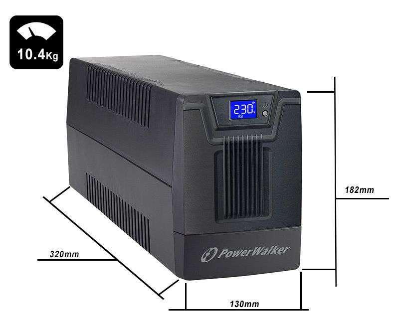 VI 1500 SCL PowerWalker wymiary i waga
