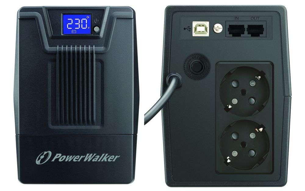 Zasilacz UPS awaryjny 800VA/480W VI 800 SCL PowerWalker