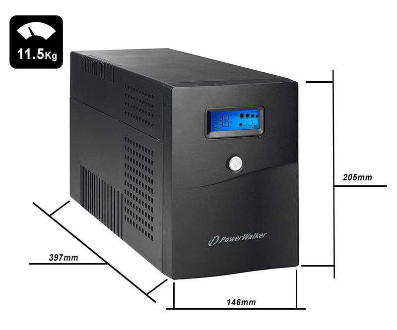 VI 3000 SCL FR PowerWalker wymiary i waga