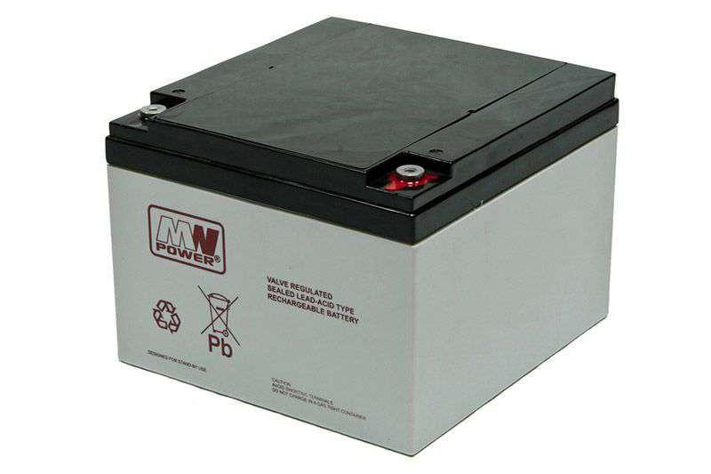 Akumulator AGM 12V/26Ah MWL 26-12 MW Power