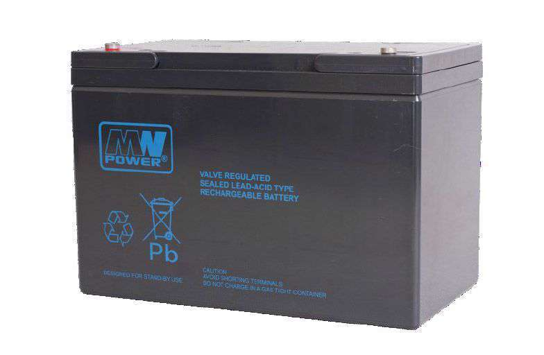 Akumulator AGM 12V/100Ah MWP 100-12B MW Power
