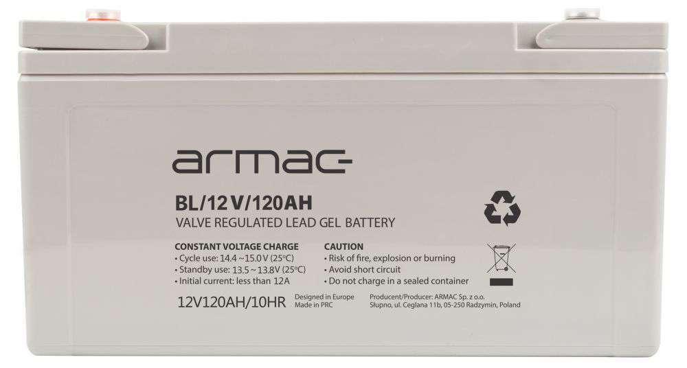 Akumulator AGM 12V/120Ah B/12V/120AH Long-Life Armac