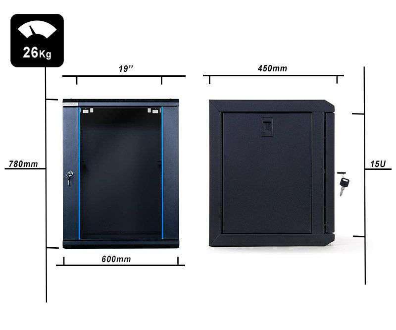 wymiary szafy STLWMC-15U-645-GSB-C