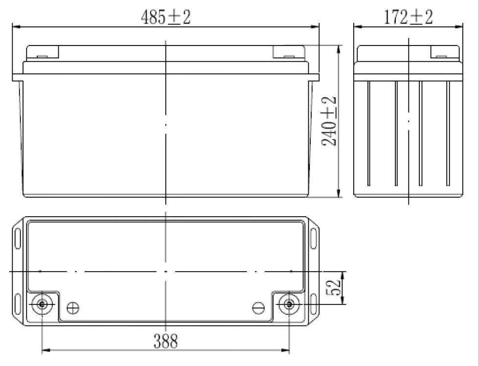 MWLG 150-12EV wymiary akumulatora baterii