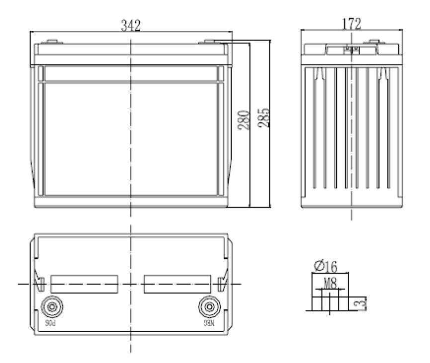MWLG 134-12EV wymiary akumulatora baterii