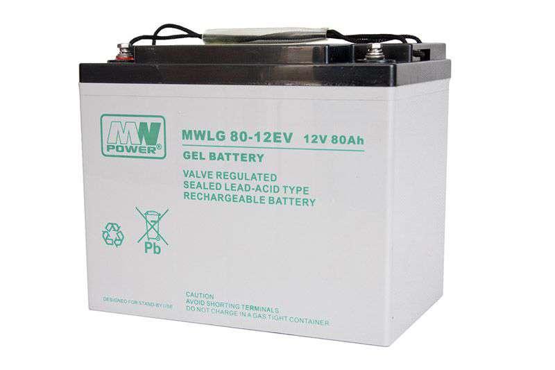 Akumulator żelowy 12V/80Ah MWLG 80-12EV MW Power