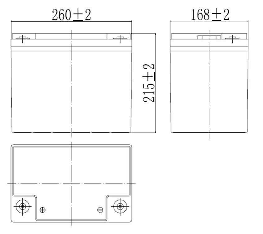 MWLG 80-12EV wymiary akumulatora baterii