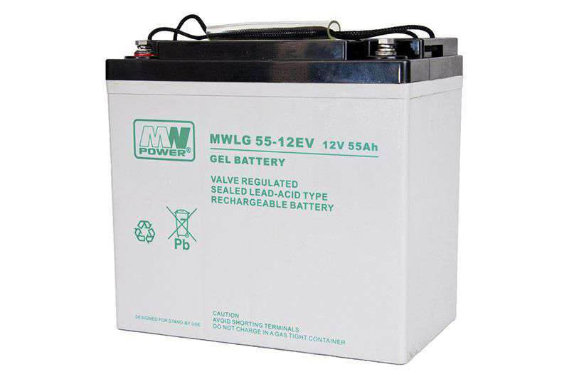 Akumulator żelowy 12V/55Ah MWLG 55-12EV MW Power