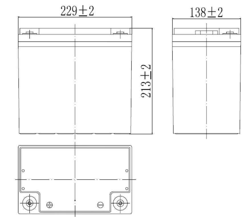 MWLG 55-12EV wymiary akumulatora baterii