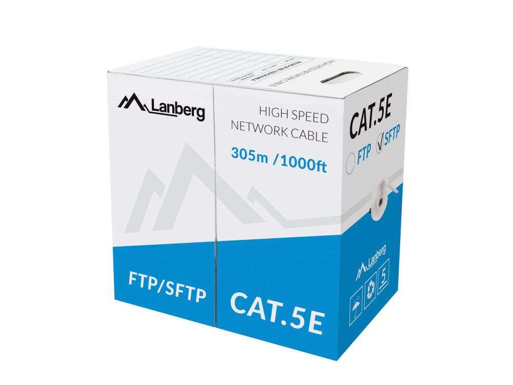 Wewnętrzny kabel LAN skrętka SFTP CAT.5E LCS5-11CU-0305-S Lanberg