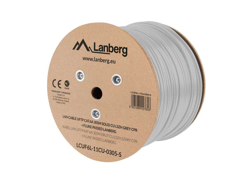 Wewnętrzny kabel LAN skrętka U/FTP CAT.6A LCUF6L-11CU-0305-S Lanberg