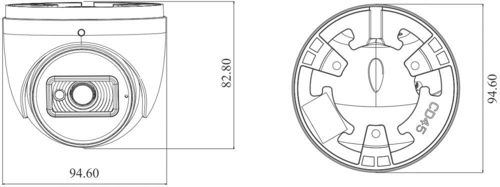 złącza kamery ipox PX-DI2028IR/W