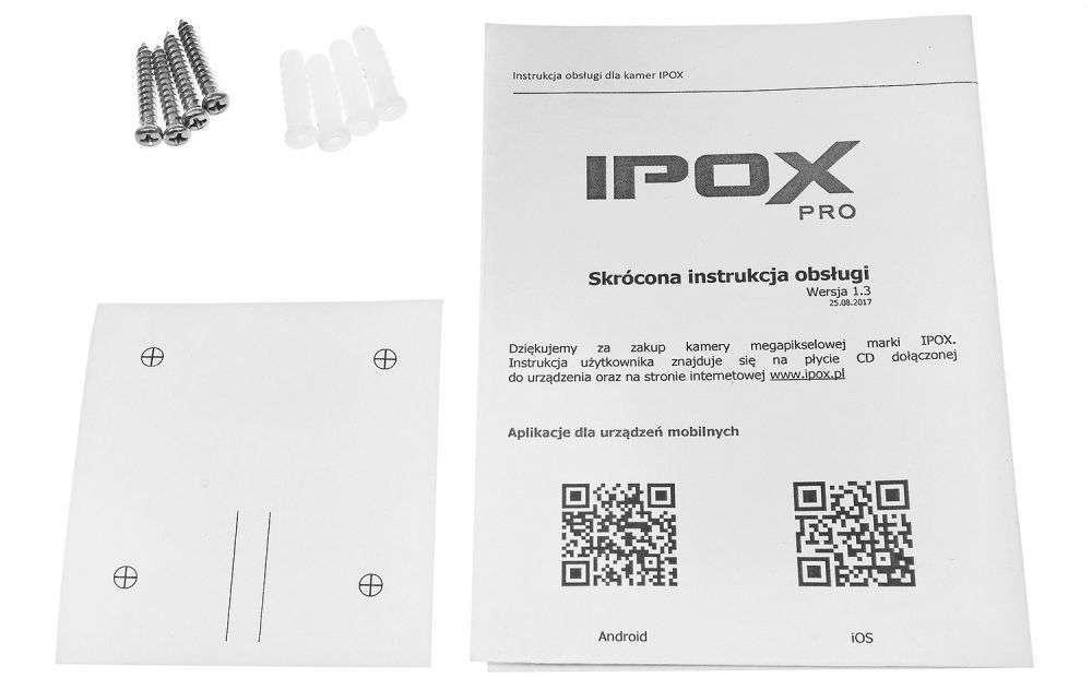 zawartość opakowania ipox pro PX-TI4028IR2