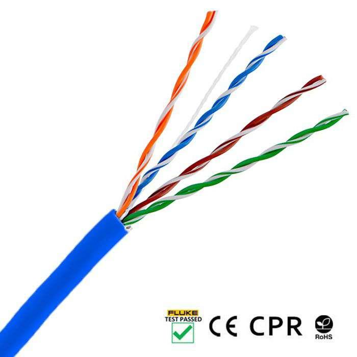 Wewnętrzny kabel LAN skrętka UTP CAT.5E LCU5-12CU-0305-B Lanberg