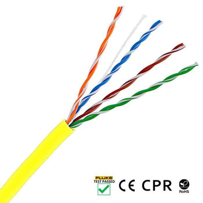 Wewnętrzny kabel LAN skrętka UTP CAT.5E LCU5-12CU-0305-Y Lanberg