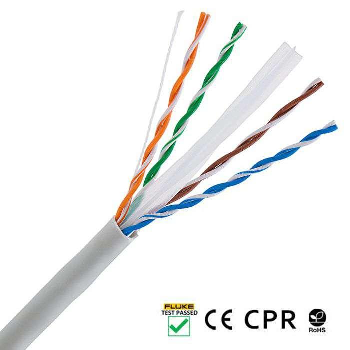 Wewnętrzny kabel LAN skrętka UTP CAT.6 LCU6-12CU-0305-S Lanberg