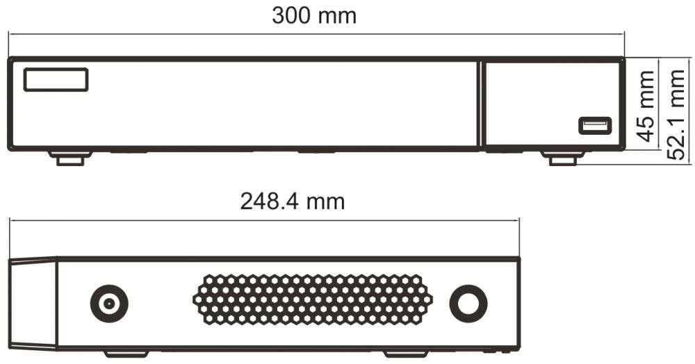 wymiary rejestratora PX-NVR0881H-P8 IPOX