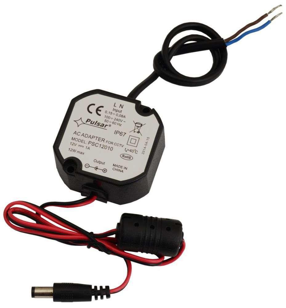 Zasilacz impulsowy PSC12010 stabilizowany do kamer CCTV Pulsar