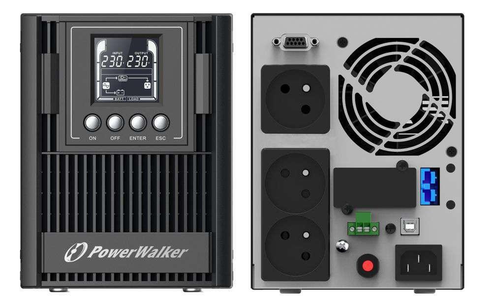 Zasilacz UPS awaryjny 1kVA/900W VFI 1000 AT FR PowerWalker