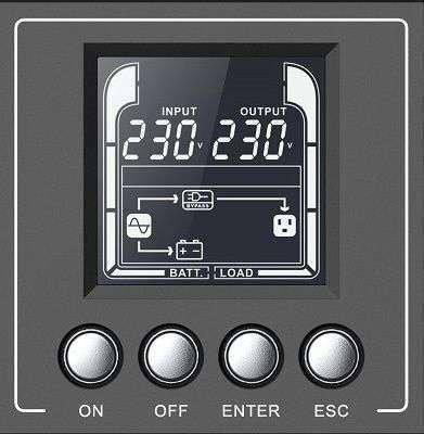 PowerWalker VFI 2000 AT FR wyświetlacz LCD