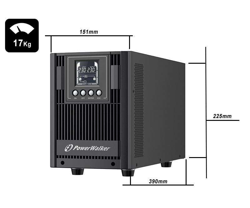 VFI 2000 AT FR PowerWalker wymiary i waga