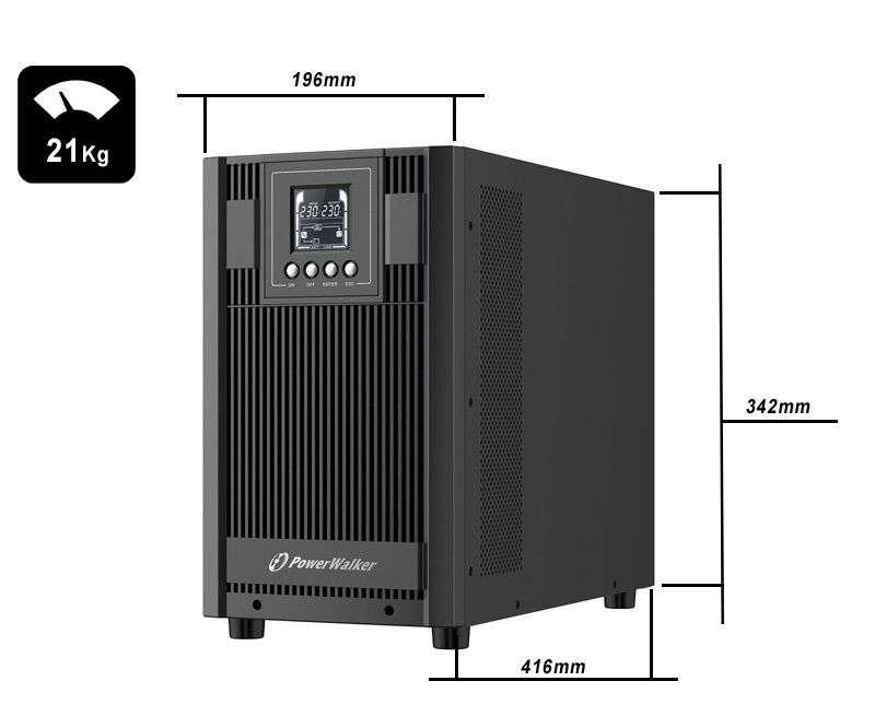 VFI 3000 AT FR PowerWalker wymiary i waga