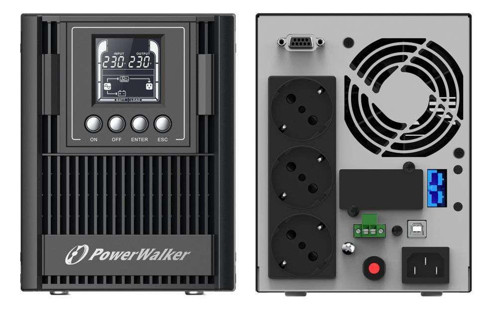 Zasilacz UPS awaryjny 1kVA/900W VFI 1000 AT PowerWalker