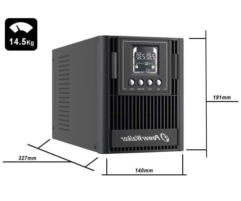 VFI 1000 AT PowerWalker wymiary i waga