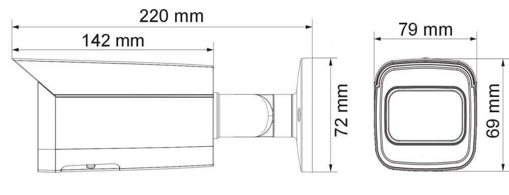 wymiary kamer ipox PX-TZIP2012IR3SL