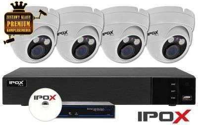 Zestaw do monitoringu IP ZMIP-IPO4KD50W/MTZ (5MPX) IPOX