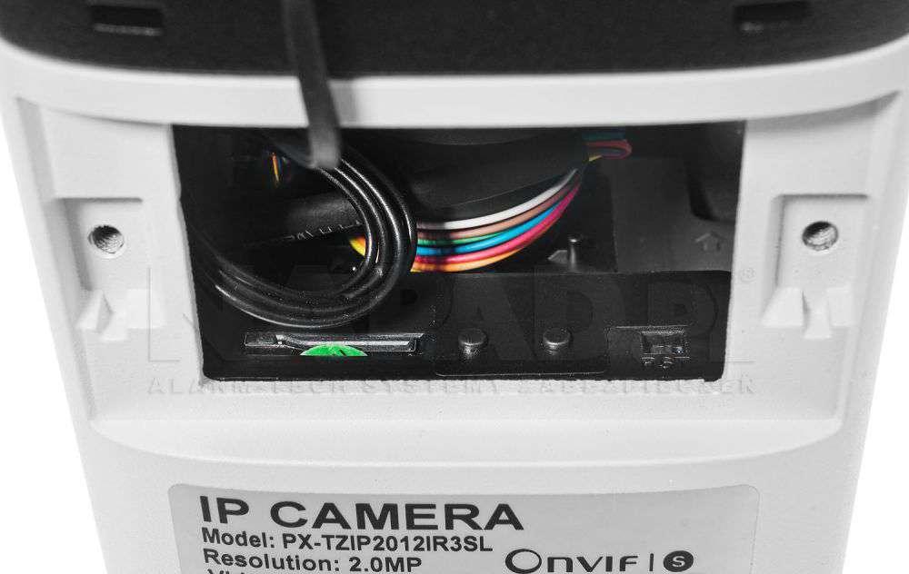 zapis na kartę pamięci kamera IP PX-TZIP4012IR3AI IPOX