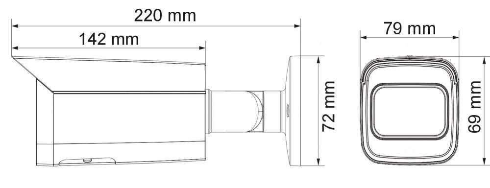 wymiary kamer ipox PX-TZIP4012IR3AI