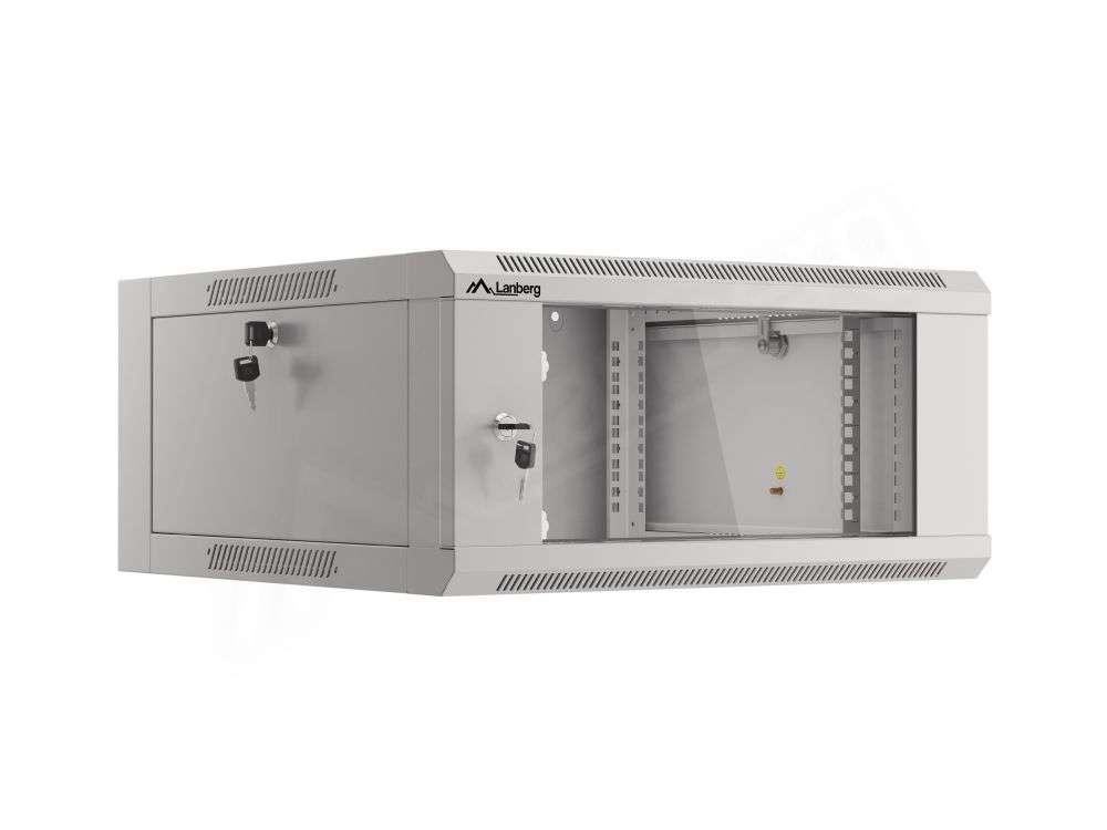 "Szafa RACK 19"" 4U 570x600 Lanberg WFFA-5604-10S szybkiego montażu"