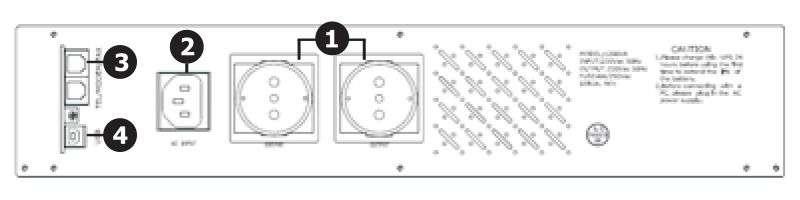 UPS2000-R-LI EAST wyświetlacz lcd schemat