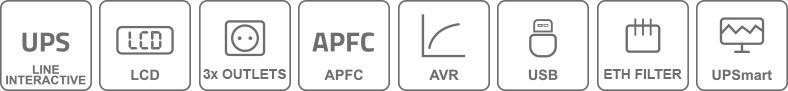 Zasilacz awaryjny UPS 1200VA/720W UPS1200-T-LI/LCD EAST