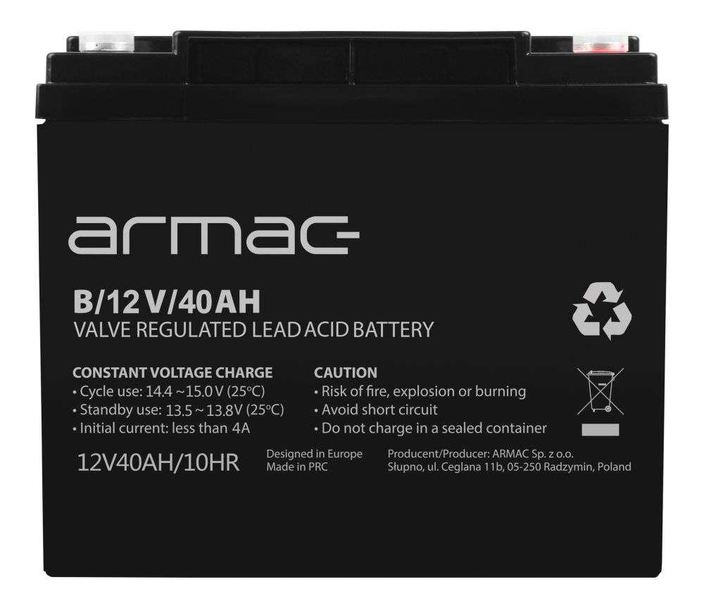 Akumulator AGM 12V/40Ah B/12V/40AH Armac