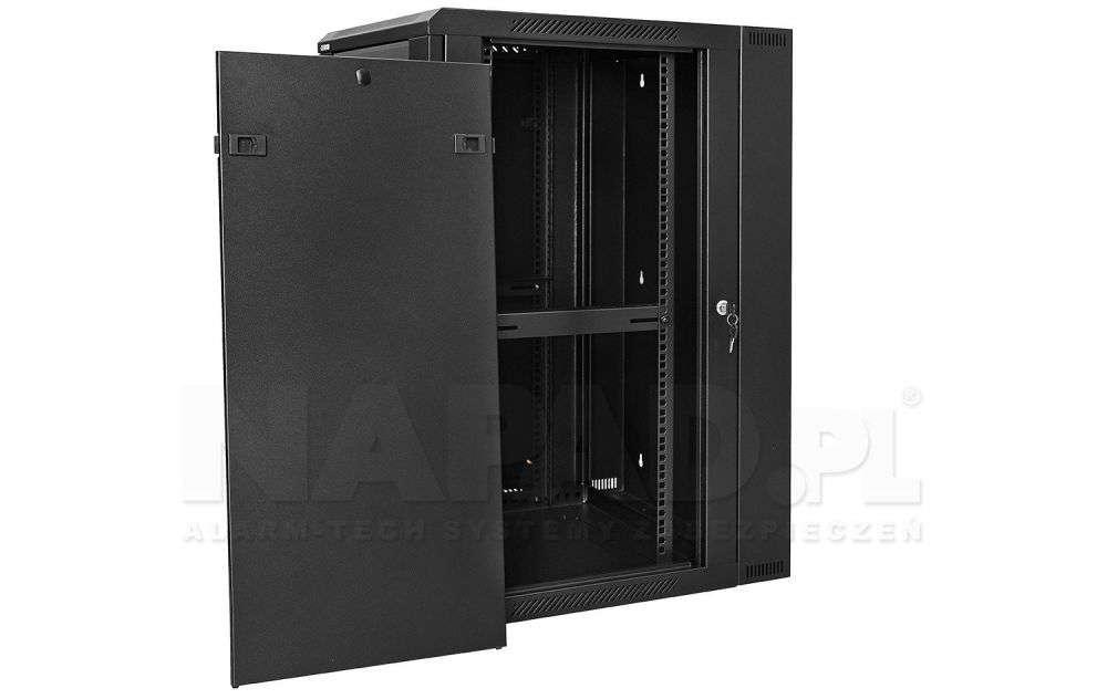 Szafa rackowa RACKSYSTEMS D6618 szklana czarna