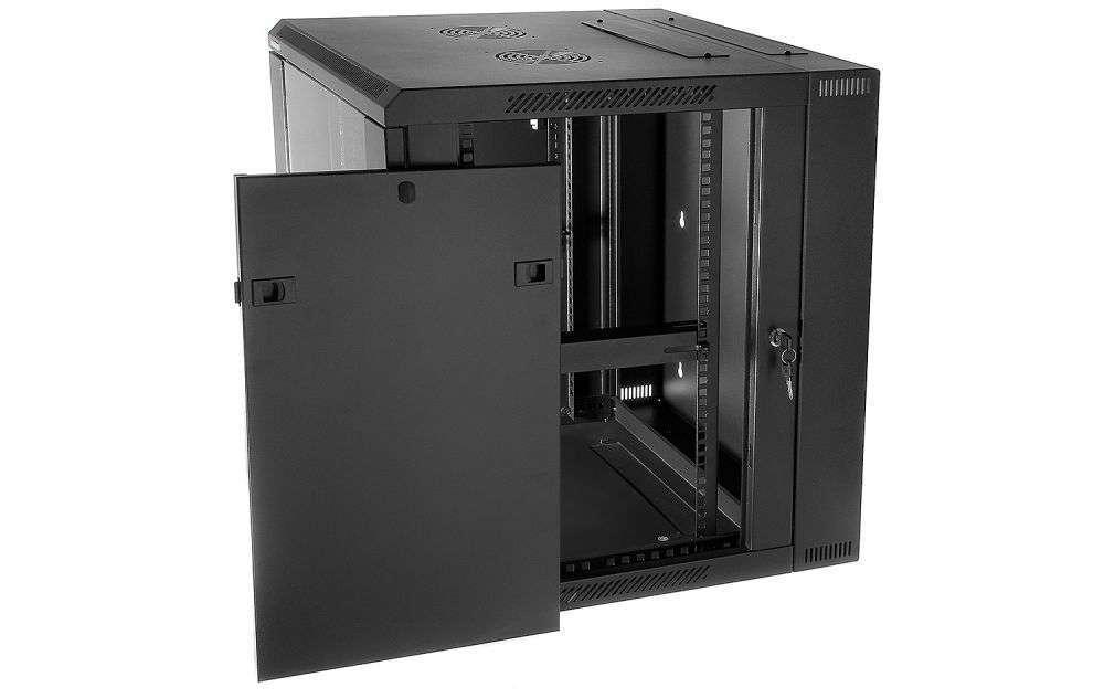 Szafa rackowa RACKSYSTEMS D6615 szklana czarna