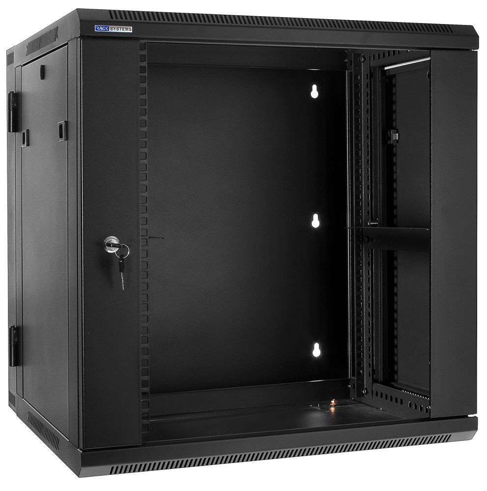 """Szafa Rack 19"""" 12U / 600 Rack Systems D6612 wisząca dwusekcyjna"""
