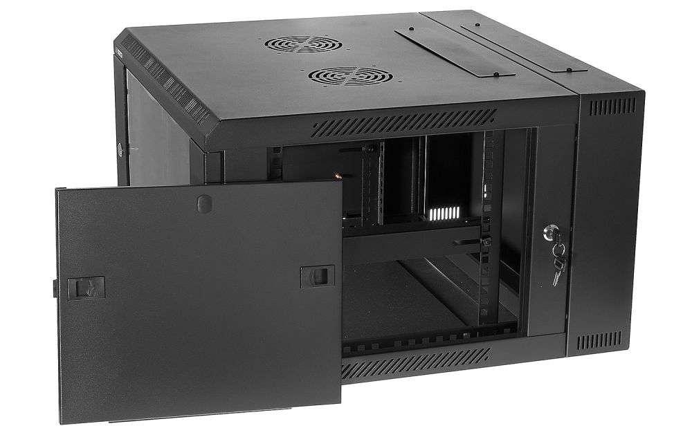 Szafa rackowa RACKSYSTEMS D6606 szklana czarna