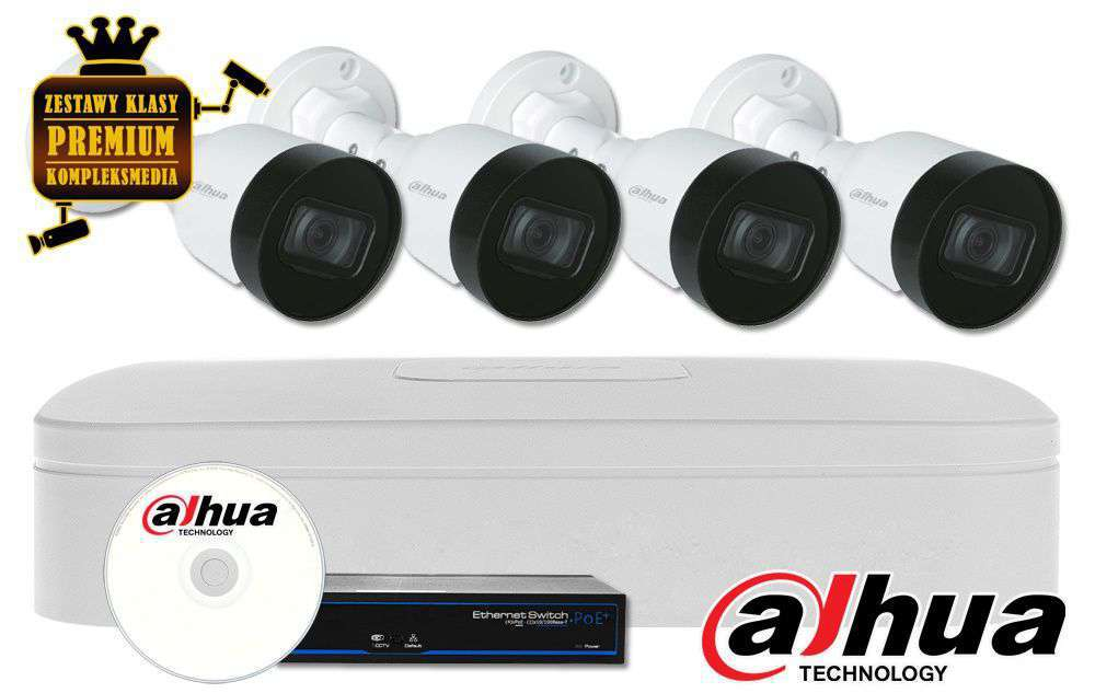 Zestaw do monitoringu IP ZMIP-DAH4KB40/ECO (4MPX) DAHUA