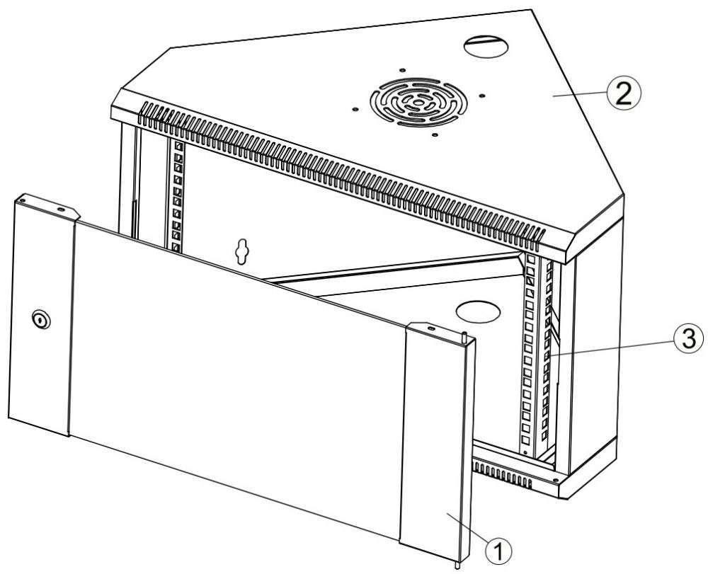 oznaczenia do szafy rack 19 systems
