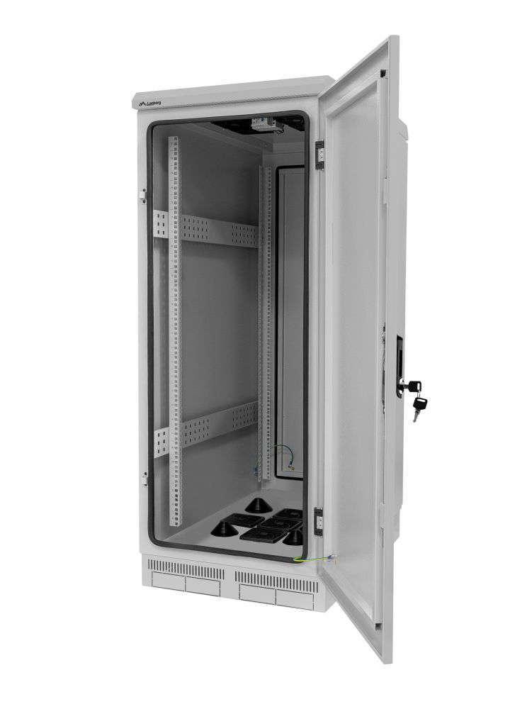budowa szafy rack 19 FF55-6827-22S marki Lanberg