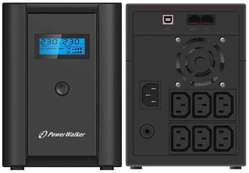 Zasilacz UPS awaryjny 2200VA/1200W VI 2200 SHL IEC PowerWalker