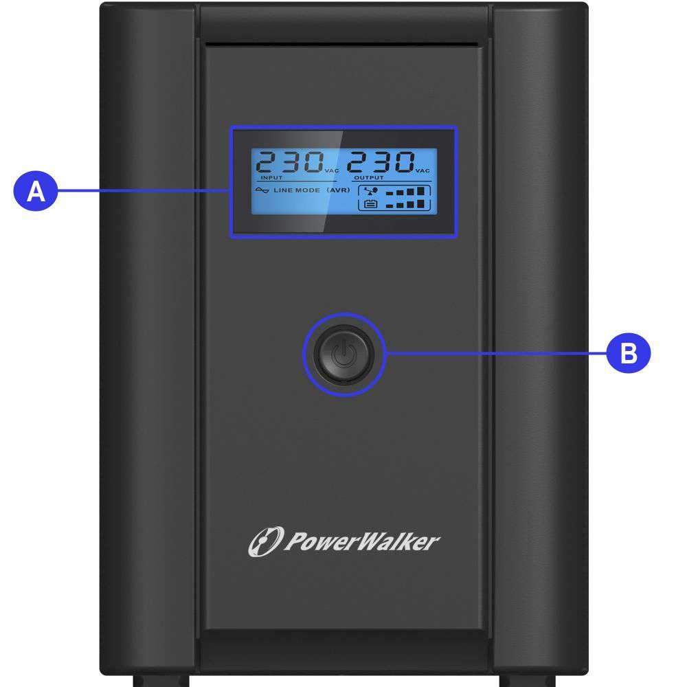 Opis złącz w zasilaczu awaryjnym UPS Power Walker serii VI SHL IEC