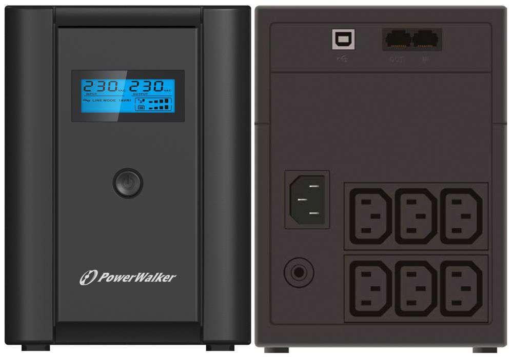 Zasilacz UPS awaryjny 1200VA/600W VI 1200 SHL IEC PowerWalker