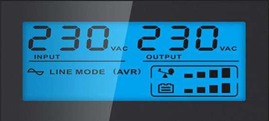 PowerWalker VI 850 SHL IEC wyświetlacz