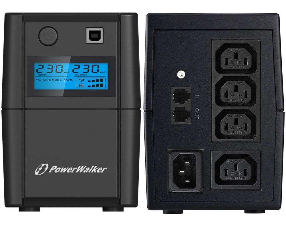 Zasilacz UPS awaryjny 650VA/360W VI 650 SHL IEC PowerWalker