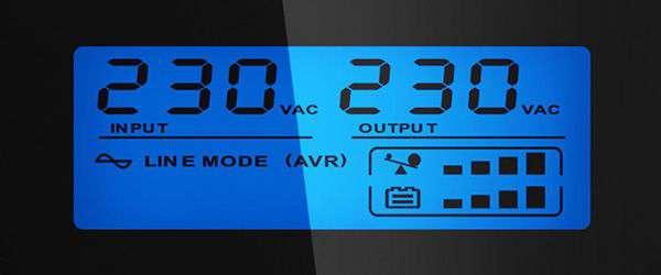 PowerWalker VI 1200 GX wyświetlacz