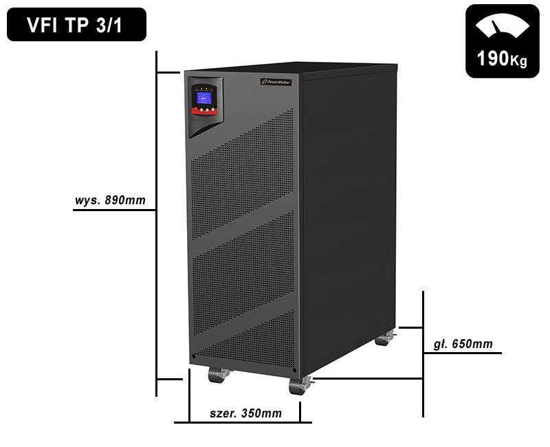 VFI 10000 TP 3/1 (x48) PowerWalker wymiary i waga
